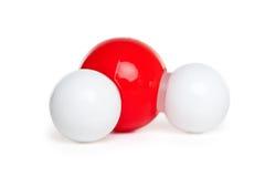 h2o模型分子 免版税库存照片