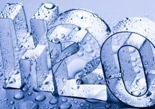 H2O Imagen de archivo