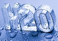 H2O. Water is the most important element for all lives on the Earth Royalty Free Stock Photos
