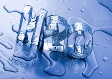 h2o Στοκ εικόνα με δικαίωμα ελεύθερης χρήσης