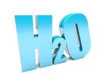 H2O stock illustration
