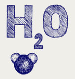 H2O. Doodle style Royalty Free Stock Photo