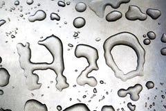 H2O escrito com água Imagem de Stock Royalty Free