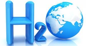 H2O. Fórmula da água Fotografia de Stock