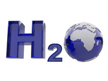 H2O. Formula of water. Royalty Free Stock Photo