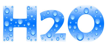 H2o formule Stock Fotografie