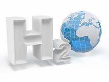H2O. Formule van water. stock illustratie