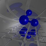 H2o molecule Royalty Free Stock Images