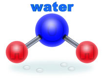 H2O water (01). Molecular structure of water. two parts hydrogen one part oxygen vector illustration