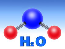 H2O water (02) Stock Image