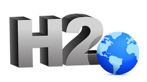 H2O water formula Stock Photos