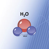 H2O water molecule Royalty Free Stock Photography