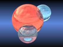 H2O water molecule. Water molecule generated in a 3d programme Stock Image