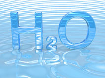 H2O Water symbol Royalty Free Stock Photos