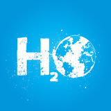 H2o water world ecology concept Stock Photography