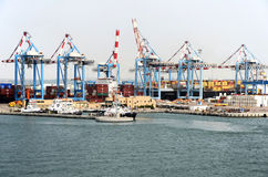 HAÏFA, ISRAËL - 19 mai - vue dans le port, 2013 Image stock