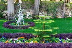 HAÏFA, ISRAËL 25 MARS 2018 : Les terrasses de la foi de Bahai gren le parc au printemps photographie stock