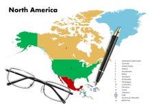 Haïti op de kaart van Noord-Amerika Stock Fotografie