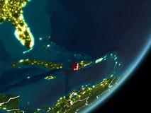 Haïti op nachtaarde Royalty-vrije Stock Afbeelding