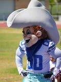 Hałaśliwa Dallas NFL Kowbojska maskotka fotografia royalty free