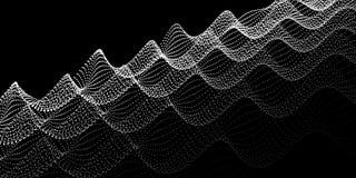 Hałas fala kropki cyfrowy abstrakcyjne tło Technologii bac zdjęcia stock