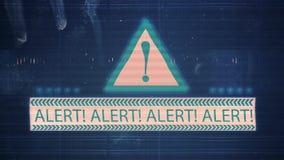 Hałas usterka z wpisowym ostrzeżeniem i TV zbiory wideo