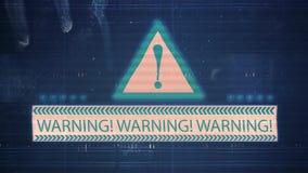 Hałas usterka z wpisowym ostrzeżeniem i TV zdjęcie wideo