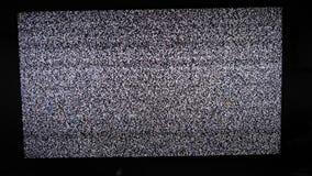 Hałasu tv tło Telewizja ekran z statycznym hałasem powodować bad sygnału przyjęciem Telewizja ekran z ładunkiem elektrostatycznym zdjęcie wideo