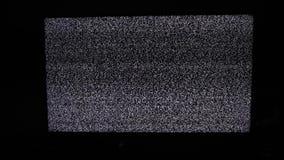 Hałasu tv tło Telewizja ekran z statycznym hałasem powodować bad sygnału przyjęciem Telewizyjny styl życia ekran zdjęcie wideo