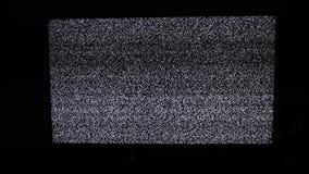 Hałasu tv tło Telewizja ekran z statycznym hałasem powodować złym styl życia sygnału przyjęciem Telewizja ekran zbiory wideo