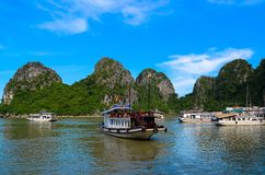 Ha长海湾越南 库存图片