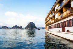 Ha长的海湾,越南 免版税库存照片