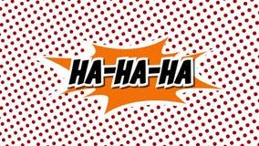 HA-HA-HA - анимация стиля воздушных шаров речи слова шуточная иллюстрация штока