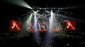 A-ha band playing in concert Royalty Free Stock Photo