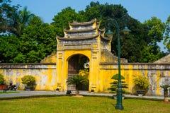 HA DE NOI, VIETNAM Ciudadela larga de Thang como ciudad del patrimonio mundial famosa en Hanoi Imagen de archivo libre de regalías