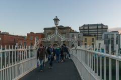 Ha de ` Penny Bridge Dublin Photographie stock