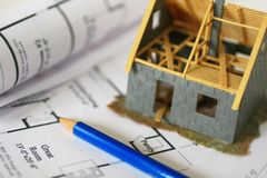 ha det nya huset Arkivbild