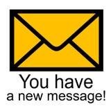 ha det nya meddelandet dig vektor illustrationer