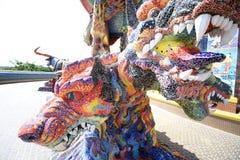 3 ha diretto Dragon Canine Colorful Thai Fotografie Stock Libere da Diritti