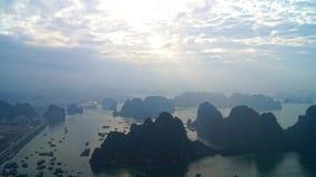 Ha do nascer do sol longo da baía Fotos de Stock