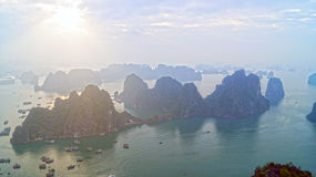 Ha do nascer do sol longo da baía Imagem de Stock Royalty Free