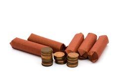 Ha en ändring för raddapengarreservdel Arkivbilder