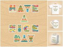 Ha en bokstäveruppsättning för trevlig dag Royaltyfri Fotografi