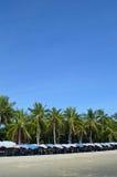 Ha en ferie på stranden Arkivfoto