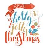 Ha en Holly Jolly Christmas! Arkivfoto