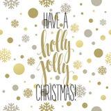 Ha en Holly Jolly Christmas Bokstävervektor vektor illustrationer