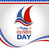 Ha en lycklig Columbus Day Vector illustration Royaltyfria Bilder