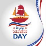 Ha en lycklig Columbus Day Vector illustration Fotografering för Bildbyråer