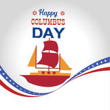 Ha en lycklig Columbus Day Vector illustration Arkivbild