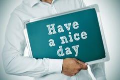 Ha en trevlig dag Royaltyfri Fotografi
